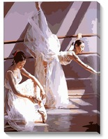 Hand-painted oil painting by numbers DIY Paint Acrylic Drawing With Brush Paints Home Decorating  Dedication  Beautiful ballet