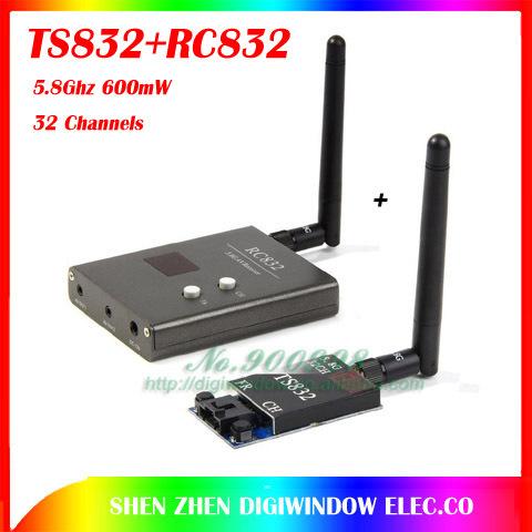 Запчасти и Аксессуары для радиоуправляемых игрушек OEM FPV 5.8g 5,8 600 32 /V TS832 + RC832 Tx & Rx 5 TS832+RC832 fpv 5 8g 600mw 32 channel wireless audio video a v transmitting receiving system combo module for fpv ts832 rc832