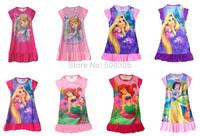 girl  nighties elsa and anna colorful dress