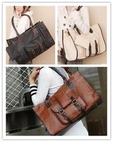 1Pcs Fashion Women Handbag Vintage Large Capacity Bag Multi-purpose Shoulder Bags PU Leather Messenger Bag EJ640565