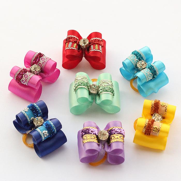 Armi store Handmade Accessories Pet Rhinestone Ribbon Festival Bow 21026 Dog Jewelry Wholesale