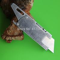 2pcs/LOT,compact multi purpose utility paper knife, W/ razor blade, flat head screwdriver/pry tip, bottle opener, free Shipping