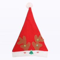 Christmas decoration christmas hats quality gold velvet bronzier 30g pattern Santa Ride