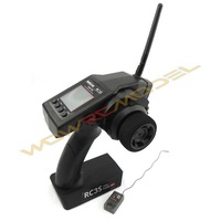 2.4G 4CH Gun RC Transmitter Controller RC3S +  4.6 to 10V High Voltage Receiver R4EH-H 260 Meter