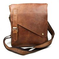 High Quality Brand Vintage Casual 100% Top Genuine Oil Wax leather Cowhide Men Messenger Bag Shoulder Crossbody Bag Bags For Men