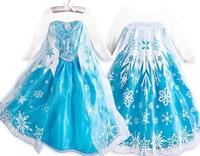 New Arrive Fantasia Frozen Elsa Princess Dress Girl Holiday Dresses Costume Frozen Cosplay Kids Gift Hot Sale