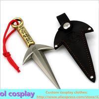 Naruto Yondaime Namikaze Minato Sarutobi Asuma ninja Kunai shuriken Metal Material 14-15cm