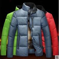 100% high quality 2015 new hot fashion casual jacket large size men's cotton padded jacket wholesale sizes M-3XL Free Shipping