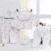 Newborn baby gift underwear cotton infant Suit all for kids clothes and accessories roupas meninos infantil meninas 5pcs/lot