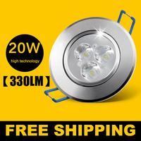 5pcs/ lot 20W Ceiling downlight Epistar LED ceiling lamp Recessed Spot light 85V-245V for home illumination Freeshipping