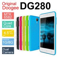 DOOGEE LEO DG280 MTK6582 Quad Core CellPhone Original Phone 4.5inch IPS Srceen 1GB 8GB Android 4.4 854*480 3G WCDMA DOOGEE PHONE