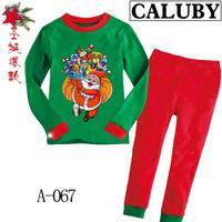 2014 autumn / winter Christmas Frozen 2-7T BABY & kids Clothing 2 piece suit Pyjamas Pleasant Christmas gift Cotton Homewear 067