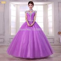 The bride wedding dress 2015 new Korean version of Qi purple wedding dresses vestidos de noiva fashionable casamento  443