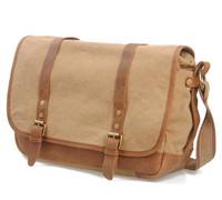 2014 New Canvas Bag men canvas messenger bag fashion vintage shoulder bag canvas bag & genuine leather unisex free shipping