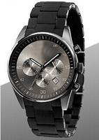 top quality AR chronograph Japan quartz  butterfly clasp couple lover khaki wrist watch free shipping