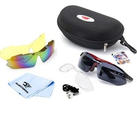 NEW 2014 Men Women Cycling Eyewear Sunglass Outdoor Glasses Bicycle Bike UV400 Sports Sun Glasses 3 Lenses original Box -FN003