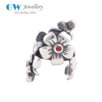 Подлинная стерлингового серебра 925 ювелирных изделий diy подвески цветок подходит ...