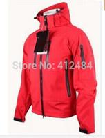 2014 new winter men outdoors sport waterproof mammoth Camping & hiking windstopper trekking windbreaker redcolor