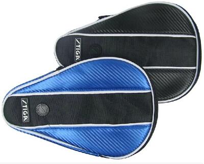 Stiga Table Tennis PU Bat Wallet Racket Case Black / Blue(China (Mainland))