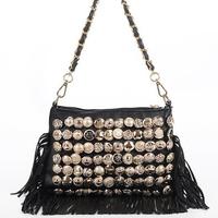Women Shoulder Bags Brand designer PU Bags Buttons Totes messenger Bags Fashion Vintage Handbags Tassel Bolsa Franja Z5