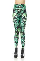 Women Galaxy Leggings Plus Size Woah Dude Pants Leggings Cannabis Marijuana Weed Leaf Leggings