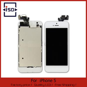 """Бесплатная доставка жк-планшета для iPhone 5 жк-сборки и сенсорный экран планшета в сборе + кнопка """"Домой"""" + фронтальная камера полный"""