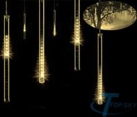 SMD 80 Lamp bead Meteor Shower Rain Tube Light New year Christmas Tree light Festival Decoration 8X 20cm suit,luce della stringa