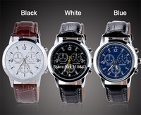 Brand New 2014 Leather watches Mens casual Sport smart watch Leather Strap Quartz Watch wristwatches luxury brand b9