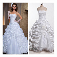 2015 Gorgeous Ball Gown Wedding Gown Luxury Beading Sweetheart Sleeveless Appliques Lustrous Satin Wedding Dresses 2014