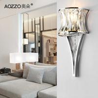Austrian duo Crystal wall lamp modern minimalist bedroom bedside lamp wall lamp living room lamp 10084