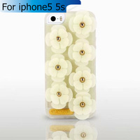 Alcoco Fashion 3D Flowers Case for iphone 5 5s Newest Garden Flowers TPU phone Cover  for i Phone5  iphone5s iphone5 5g Retail