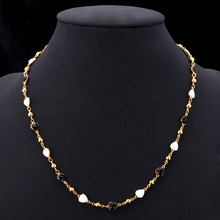 Lovely Small Heart Necklaces 18K Real Gold Plated Fashion Jewelry 2014 New Romantic Gift For Women