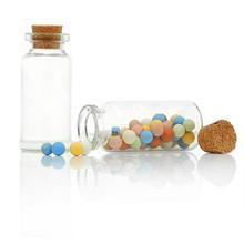 New Jewelry Storage 5PCs Tie Plug Mini Glass Bottle & Glass Jar Jewelry Potion  Wishing Bottles Vials 5.3cm x2.2cm (China (Mainland))