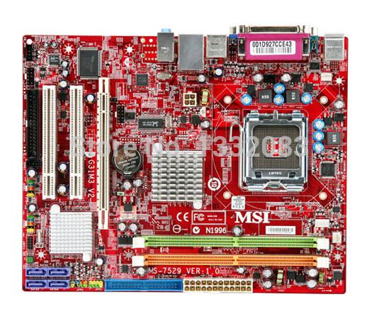 Free Shipping 90% new for MSI G31M3 V2 (MS-7529) desktop motherboard Intel G31 DDR2 LGA 775 ATX on sale(China (Mainland))