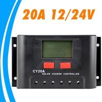 20A Solar Controller LCD 12V 24V Solar Panel Battery Charger Regulator CY20A Big Terminals Lighting Timer Controller for LED
