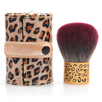 New Portable Real Techniques Leopard box Professional Makeup brushes soft hair Foundation blusher powder Cosmetic brush 1 piece