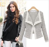 2014 Spring, Autumn&Winter, Excellent Quality, European Style Top Grade Linen Ladies Cardigan, Womens Jacket Coat