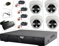 4CH 720P AHD  DVR Kit  with 4pcs 720P HD AHD Cameras Support IR Night Vision Smartphone Surveilance