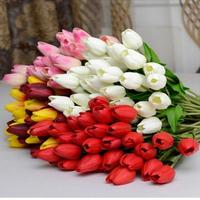 Wholesale   20pcs /lot   real touch artificial PU  tulip flowers   Wedding Home Decorative Flowers Decoration Flower(no vase)