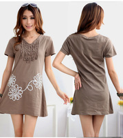 2014 summer new European and American Big T shirt design big fashion Casual Dress for women  puls size