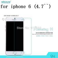 Free ship 5pcs NILLKIN  Amazing  H Nanometer Anti-Explosion Glass Screen Protectors for Apple iPhone 6 (4.7 inch)
