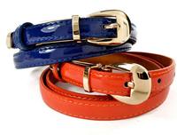 Candy color  Fashion Gold Mental buckle  Women Belts ,Genuine Leather Skinny Belt for women strap  ,Dress belt cintos femininos