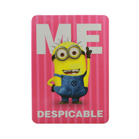 Fashion cartoon little yellow man coloured drawing PU leather 9.7 inch table PC case for Apple Ipad 2/3/4 Free shipping