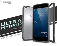 Genuine Ultra Hybrid Case For iPhone 6 Plus, Spigen Premium Clear Hard Back Panel + Flexible Edge Cases for Apple iPhone 6 Plus