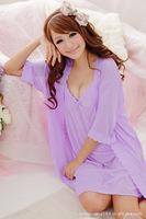 2015 Sale New Nightdress Women Nightwear Freeshipping Fashion Womens Sexy Pajamas Set Sleepwear 2 Pcs Dropshipping Night Gown