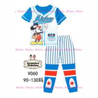 12-Nov Girls Frozen Sisters Clothing Set Kids Autumn -Summer Pajamas Sets New 2014 Wholesale Children Cartoon 2-7Y Pyjamas V-034
