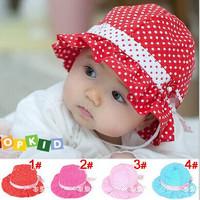 Free shipping Baby hats Flower Dot Cap Kids Children Infant Wear for Girl SJY199