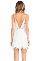 2014 Free shipping Fashion back V-neck dress flower white Lace dress .party dress