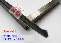Window screen sealing strips 6mm*18mm and 6mm*12mm Aluminum alloy window seal  gap aperture