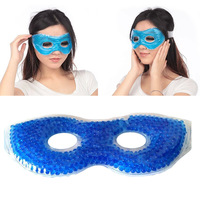 2014 New Face Care Eyes Masks Beads Shape Hot/Cold Soothing Gel ice Eye Mask Ice Pack Ice Bags Goggles